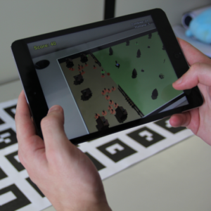 Evaluation of Selection Techniques on a Mobile Augmented Reality Game